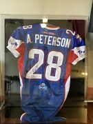 2008 Adrian Peterson Pro Bowl Game Issue Rookie Mvp Signed Auto