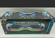 """New X Hover-1 Eclipse Ul Certified Scooter W/ 8"""" Wheels Led Bluetooth Speaker"""