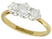 Antique 0.75ct Diamond And 18ct Yellow Gold Trilogy Ring