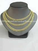 10k Gold Cuban Necklace Chain 6mm 7mm 8mm 20 22 24 28 30 Inch Box Lock Real 10kt