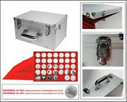 Look Alu Coin Case Gigant-h Red 15x 35 Compartments Square 1 5/8in For 525 Coins