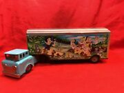 Linemar Friction Snow White And The Seven Dwarfs Tin Truck Toy 320mm Japan 3440