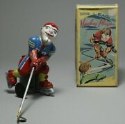 Tps Big League Hockey Player Tin Wind-up Toy Figure 178mm Made In Japan 3439