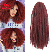 18 Afro Maley Braids Synthetic Kinky Curly Weft Crochet Braiding Hair Extension