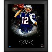 Tom Brady New England Patriots Framed Autographed 20 X 24 2016 In Focus Photo