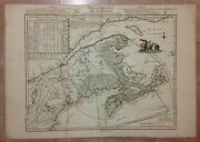 Canada Dated 1755 By Le Rouge Very Unusual Large Antique Map 18e Century