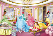 Girly Bedroom Decor Photo Wallpaper Feature Wall Disney Princess Without Glue