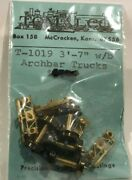 Tomalco Hon3 T-1019 3and039-7 W/brakes Arch Bar Freight Trucks - Brass Kit - Nos