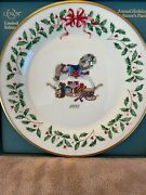 Lenox Holiday Annual Christmas Plate 1992 Rocking Horse 2nd In Series Nib