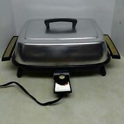 Vintage West Bend Miracle Maid Electric Skillet 3661 W/lid Tested U.s.a. 1400w