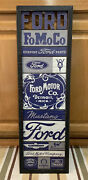Ford Parts Mustang Vintage Style Garage Bar Pub Parts Gas Oil Signs Tires Auto