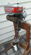Vintage Antique Nicely Restored 1934 Johnson F70 3.3 Hp Outboard Motor