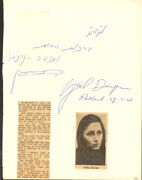 Yael Dayan - Autograph Note Signed 03/27/1961 With Co-signers