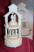 Precious Moments The Lord Bless Revolving Musical 1991 Wedding Cake Top Wooden