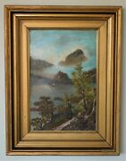 Isle Of Skye Scotland Antique 19th Century Oil Painting By Sarah Pinkney