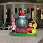 Christmas Inflatable Mickey Mouseand039s Clubhouse Scene 6.5ft H Panoramic Projection