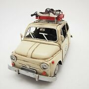 Diecast Antique Car Model Good Quality Micro Mini Toy Cars Fiat 500 Hand Made Nr