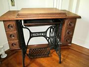 Antique Oak Sewing Machine Cabinet From Singer