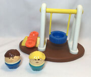 Vintage Little Tikes Toddle Tots Swing Set Community Playground Teeter Totter