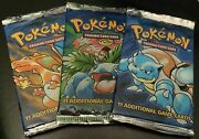 Pokemon 3 Base Set Booster Packandrsquos All Art Works Sealed