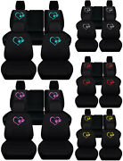 Front + Rear Black Seat Covers Lovely Paws Fits Wrangler Jl 2/4dr 2018 Present