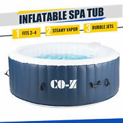 6and039x6and039 Inflatable Hot Tub Ideal For 4 Portable Jacuzzi For Patio Backyard More