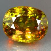 Color Change Sphene Titanite 12.01 Unheated Green To Red From Madagascar