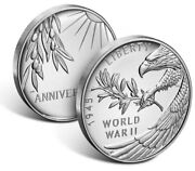 End Of World War Ii 75th Anniversary Silver Medal | In Hand With Free/fast Ship