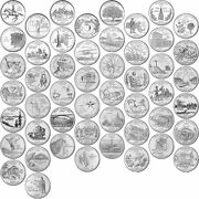 1999-2008 Us State Quarters Complete Uncirculated Collectible Set Of 50 Coins