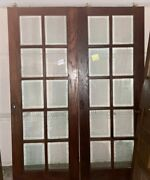 Elegant French Pocket Doors Beveled Glass Early 1900s Antique Very Rare