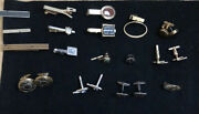 Awesome Vintage Mod Cufflinks And Tie Clips Lot Hickock Swank Pioneer