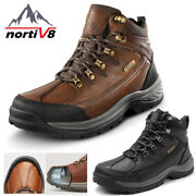 Nortiv 8 Menand039s Safety Shoes Steel Toe Work Boots Indestructible Waterproof Boots