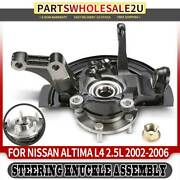 Front Right Wheel Hub Bearing Knuckle Assembly For Nissan Altima 2002 2003-2006