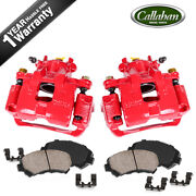 For Mitsubishi Lancer Front Powder Coated Brake Calipers And Ceramic Pads