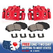 Front Powder Coated Brake Calipers And Ceramic Pads For Cadillac Cts Sts