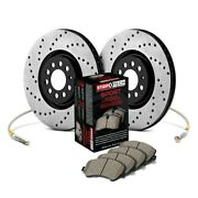For Mercedes-benz 190e 87-93 Stoptech Sport Drilled 1-piece Front Brake Kit