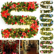 8.86ft Led Christmas Garland Christmas Fir Branch Garland Outdoor And Indoor Decor
