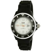 Ice Si.bw.s.s.11 Unisex Black Silicone Band With White Analog Dial Genuine Watch