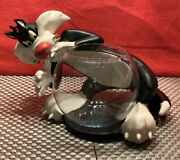 Extremely Rare Looney Toons Sylvester Glass Beta Fish Bowl By Acme Pet Shop