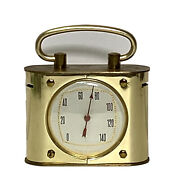 Vintage Brass Thermometer 3 Made In France Travel Desk Item Office Décor Gift