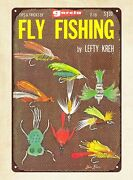 Metal Movie Signs Garcia Tips And Tricks Of Fly Fishing 1968 Book Cover Tin Sign