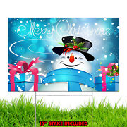Merry Christmas Happy Holiday Xmas Season Winter Decoration Yard Sign Design C3