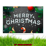 Merry Christmas Happy Holiday Xmas Season Winter Decoration Yard Sign Design C5