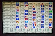 Unc 1976 First Day Issue 2 Consecutive Serial Number And State Stamp Set Of 50