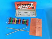 Vintage Bell-harmony Toy Xylaphone - Original Box And Music - Made In Germany