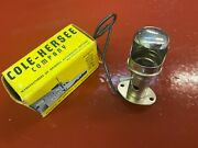 Vintage Cole Hersee 6-12 Volt Nickle Plate Hooded Dash Lamp Ford Chevy Mopar