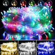 Outdoor Fairy String Lights 10-1000 Led Christmas Party Holiday Tree Festival Us