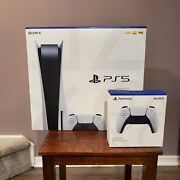 Sony Playstation 5 Console Disc Version Ps5 And Controller -local Pickup Available