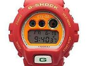 Casio G-shock Evangelion Asuka Model Red Dw-6900 Menand039s Watch Japanese Anime