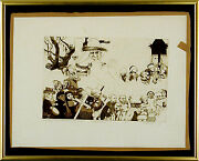 Charles Bragg - Procession Etching Signed Proof First State Circa 1965